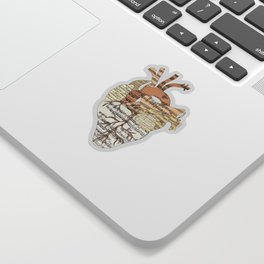 Sound Of My Heart (on white) Sticker