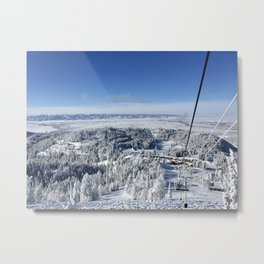 Chairlift View Metal Print