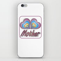 mother iPhone & iPod Skins featuring Mother by Mike van der Hoorn