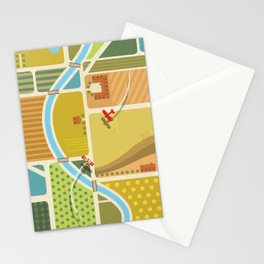 from above in the skies of Picardy Stationery Cards