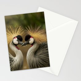 Pretty birds in love Stationery Cards