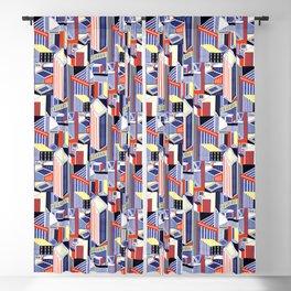 Abstract Minimalism City (Pastel & Orange) Blackout Curtain