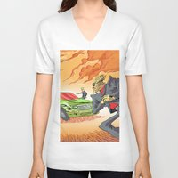 agents of shield V-neck T-shirts featuring CIA Agents! by Moshik Gulst