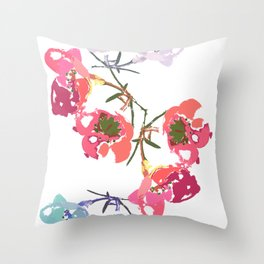 flowing flowers Throw Pillow