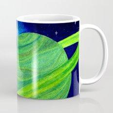Green Planet, Pink Nebula Coffee Mug