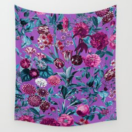 Romantic Floral Pattern Wall Tapestry