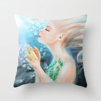 marine Throw Pillows featuring Marine by SydneySarah