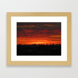 Sunset/Cityscape 3 Framed Art Print
