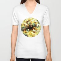 oil V-neck T-shirts featuring Oil cubes by Tony Vazquez