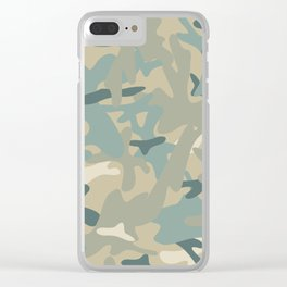 Camouflage military background Clear iPhone Case