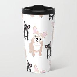 Cute French Bulldog Pattern Travel Mug