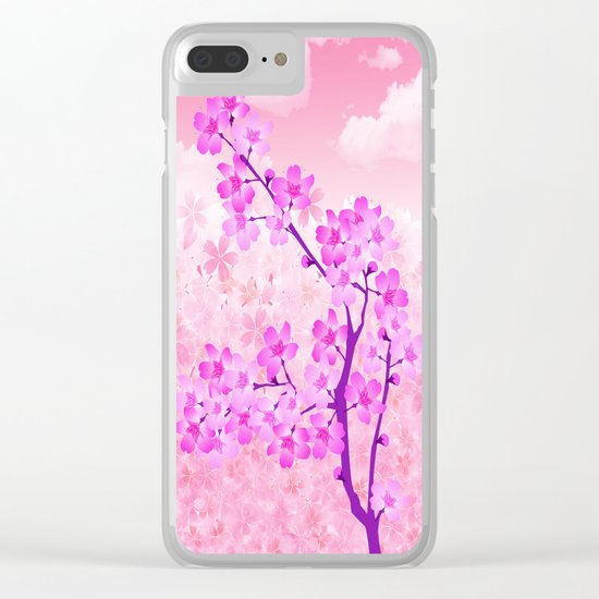 Cherry Blossom - Variation 4 Clear iPhone Case