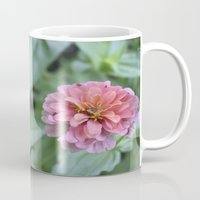 rileigh smirl Mugs featuring Pink Flower by Rileigh Smirl