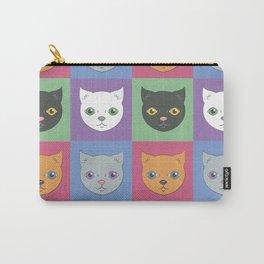 Cat Face Pop Art Carry-All Pouch