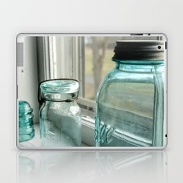 Blue Masons In The Window Laptop & iPad Skin