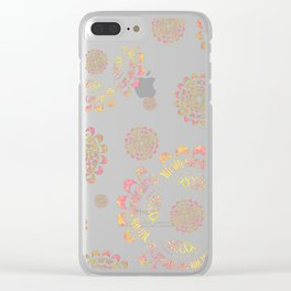 Boheme Pop Clear iPhone Case