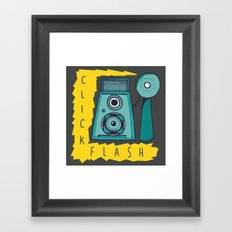 Vintage Camera | Grey Framed Art Print