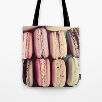 macarons Tote Bags featuring Macarons by elle moss