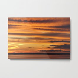 Sunset at the Amazon Metal Print