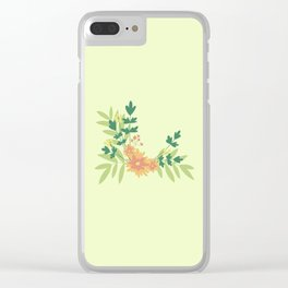 Citrus Floral Clear iPhone Case