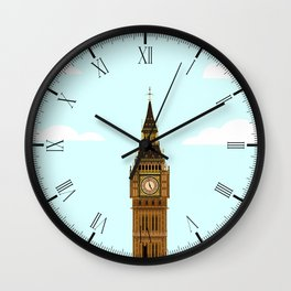 Big Ben Blue Skies Wall Clock