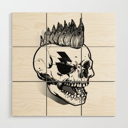 Anarchist skull art, custom gift design Wood Wall Art