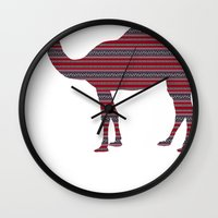 camel Wall Clocks featuring Camel by Ain Clothing
