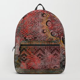 Rustic Ethnic Mandala Backpack