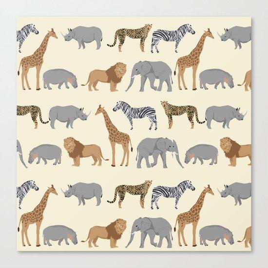 Safari animal minimal modern pattern basic home dorm decor nursery safari patterns Canvas Print