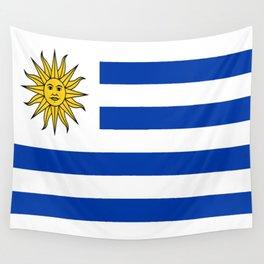 flag of Uruguay-Uruguyan,montevideo,spanish,america,latine,Salto,south america,paysandu,costa,sun,be Wall Tapestry