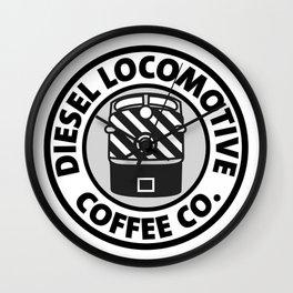 Diesel Locomotive Coffee Co. Wall Clock