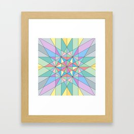 Colorful Pastel Mosaic Triangle Star Framed Art Print