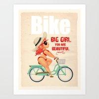 bike Art Prints featuring BIKE by melivillosa