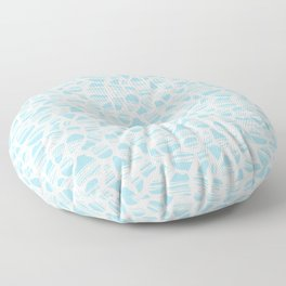 Okapi Animal Print [Island Blue] Floor Pillow