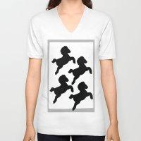 pony V-neck T-shirts featuring pony by gasponce