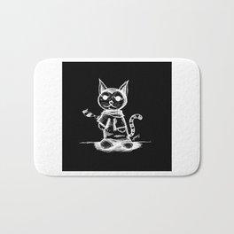 black cat kuroneko ecopop Bath Mat