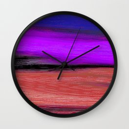 Brown and Blue Wall Clock
