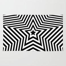Stars - black & white vers. Rug