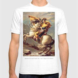 Napoleon Crossing the Alps - Jacques-Louis David T-shirt