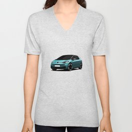 Cool Electric Car Unisex V-Neck