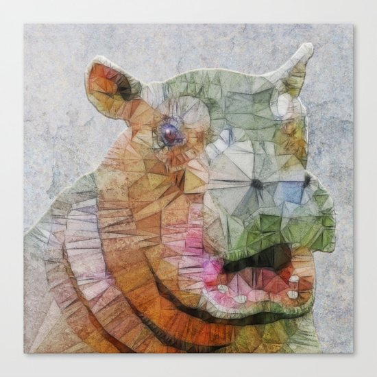 abstract hippo Canvas Print