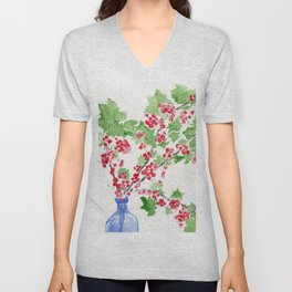 Currant Events Unisex V-Neck