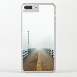 Morning Fog on Bridge Clear iPhone Case