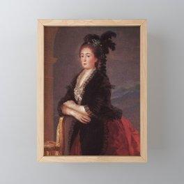 Francisco de Goya - Doña Maria Teresa da Vallabriga Framed Mini Art Print