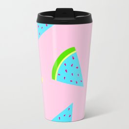 Watermelon in Pastel Neon | Watermelon Seed | Watermelon Home Decor | pulps of wood Travel Mug