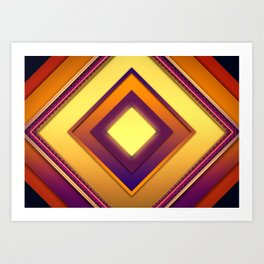 Squared Art Print