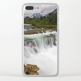 Mountain Paradise Clear iPhone Case