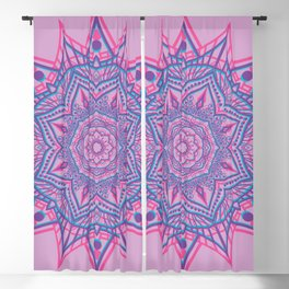 Vector glitch mandala Blackout Curtain