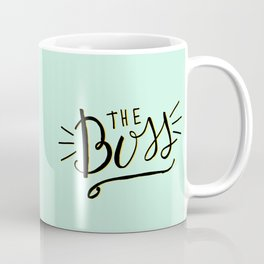 The Boss - Boss Lady - Hand lettering Coffee Mug