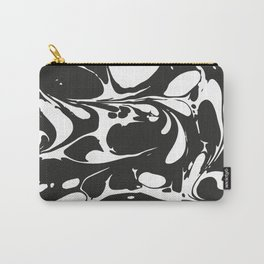 Black and White Marble Surface Design Carry-All Pouch